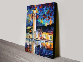 Lighthouse in Crete Canvas Print Leonid Afremov