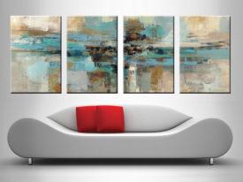 Morning Fjord Silvia Vassileva 4 Panel Wall Art