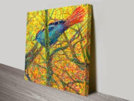 Bluebird Iris Scott Canvas Art Print