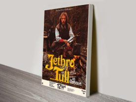 1977 Jethro Tull Concert Poster Wall Art on Canvas