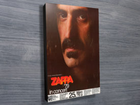 1979 Frank Zappa Poster Wall Art on Canvas