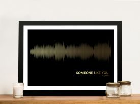 Adele Someone Like you Soundwave Framed Wall Art