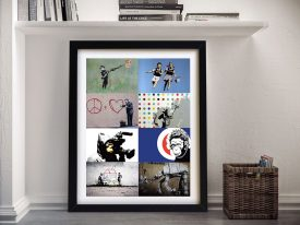 Buy a Ready to Hang Banks Collage Print