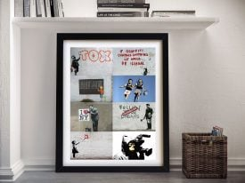 Buy a Ready to Hang Framed Banksy Montage