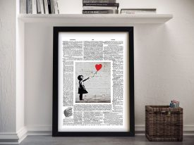 Banksy upcycled page Framed Picture