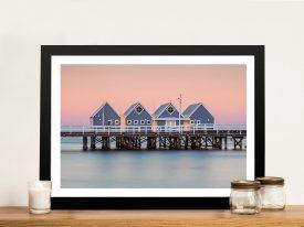 Busselton Jetty Coastal Framed Canvas Art