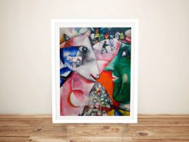 Marc Chagall. I and the Village Framed Wall Art