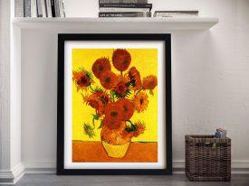 Vincent Van Gogh Still Life with Fifteen Sunflowers Framed Wall