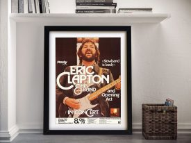 Eric Clapton Concert Poster Framed Wall Art