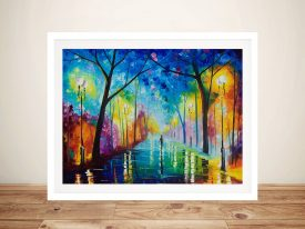 Fog in the Park Afremov Painting Prints