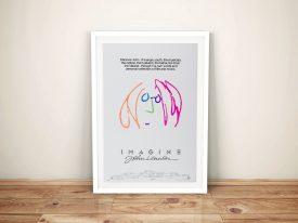 Imagine John Lennon Movie Poster Framed Wall Art