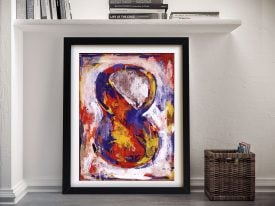 Jasper Johns Figure 8 Framed Wall Art Print