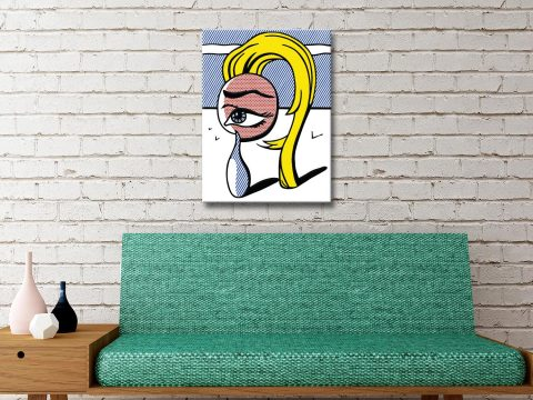 Girl with a Tear I Canvas Art