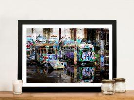 Buy Magic Bus Old Tram Depot Framed Art