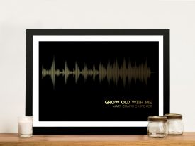 Mary Chapin Carpenter Grow Old With Me Soundwave Wall Art