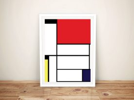 Mondrian Tableau I Framed Wall Art Picture