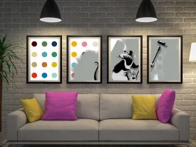 Buy Roller Rat Defaced a Framed Banksy Quad Set