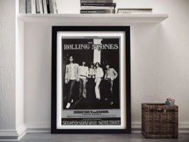 Buy a Rolling Stones Framed Gig Poster Print