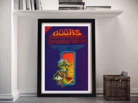 Buy a Framed Print of The Doors Gig Poster
