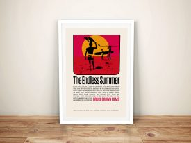 The Endless Summer Movie Poster Framed Wall Art Print Melbourne