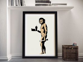The Caveman Banksy Framed Wall Art