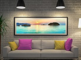 Buy Turquoise Islands Framed Panoramic Art