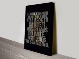 Yoda quote typographic art