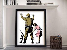 Banksy Pat Down Framed Wall Art