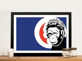 Buy a Framed Monkey Queen Banksy Print