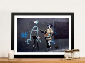 Banksy Penis painter Framed Wall Art