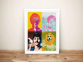 The Beatles Pop Art Framed Wall Art Australia