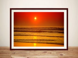 Sunset Reflections Surf Canvas Print