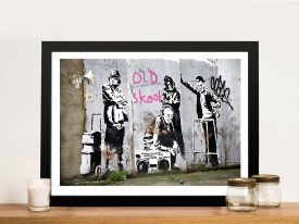 banksy old skool Framed Wall Art Picture