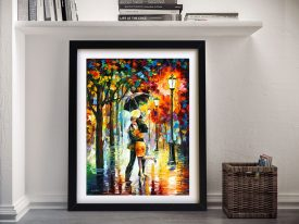 DANCE UNDER THE RAIN Afremov Wall Art