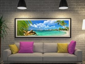 Buy a Paradise Palms Panoramic Canvas Print
