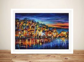 Quiet Town Leonid Afremov Framed Wall Art Picture