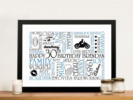 Personalised wall art gifts Sydney