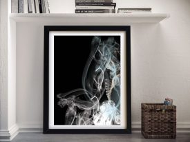 Buy Smoke Composition Framed Abstract Art