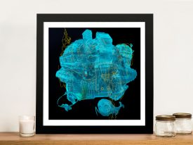 Gods of the abyss Abstract Framed Wall Art