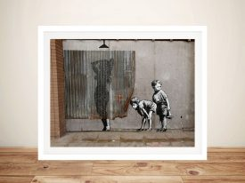 Buy Peeking Kids Banksy Framed Street Art
