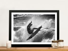 Riding the wave Framed Wall Art