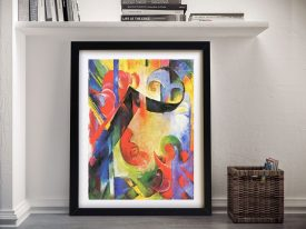 Broken Forms by Franz Marc Framed Print