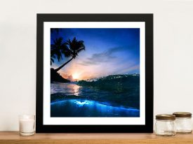 Buy Mounted Beach at Night Canvas Wall Art