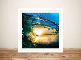 Surf Art Square Framed Print