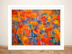 Buy Abstract Map of America Framed Wall Art
