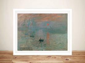 Monet Impression Sunrise Soleil Levant Framed Wall Art Australia