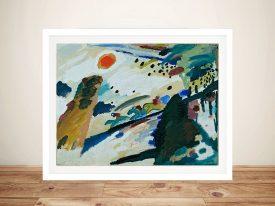 Wassily Kandinsky Romantic Landscape Framed Wall Art