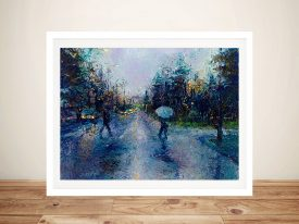 Slippery sidewalk and a seattle stroll Framed Wall Art