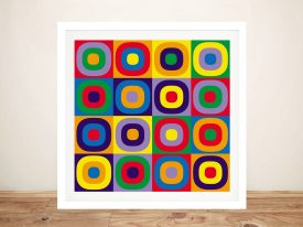 Buy Abstract Circles Colourful framed Art