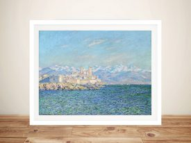 Claude Monet Antibes Afternoon Effect Framed Picture Art